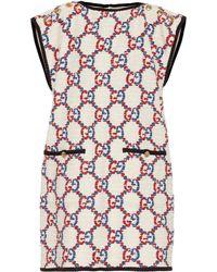 Gucci GG Sylvie Tunic Dress - White