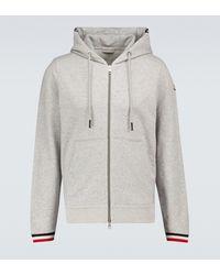 Moncler Zipped Hooded Sweatshirt - Grey