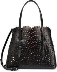 Alaïa Mina 25 Leather Tote - Black