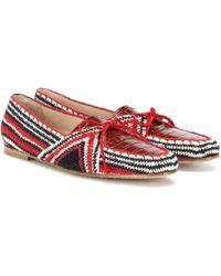 Gabriela Hearst Hays Crocodile-effect Leather Loafers - Multicolour