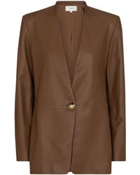 Vince Leather Blazer - Brown