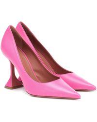 AMINA MUADDI Pumps Ami 95 aus Leder - Pink