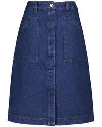 A.P.C. Anita Denim A-line Skirt - Blue