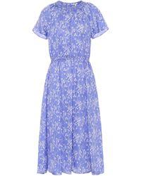 KENZO Printed Midi Dress - Blue