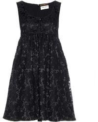 Saint Laurent Lace Dress - Black