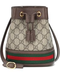 Gucci Ophidia GG Mini Bucket Bag - Natural