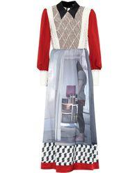 Undercover Printed Silk-blend Dress - Multicolour