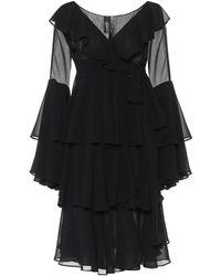 Norma Kamali Minikleid aus Chiffon - Schwarz