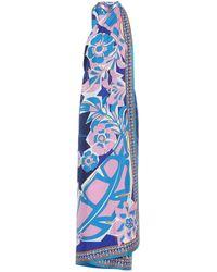 Emilio Pucci Floral Twill Dress - Blue