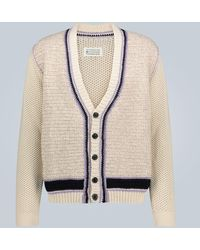 Maison Margiela Knitted Cotton-blend Cardigan - Multicolour