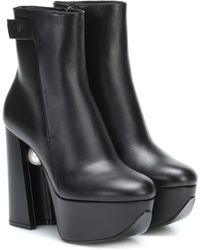 Nicholas Kirkwood Miri Platform Leather Ankle Boots - Black