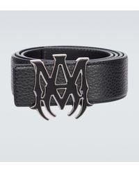Amiri Ma Buckle Leather Belt - Black