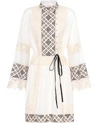 Tory Burch - Carlotta Lace-trimmed Cotton Dress - Lyst
