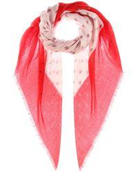 Valentino - Bedruckter Schal aus Kaschmir und Seide - Lyst