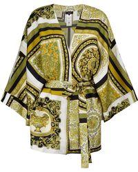 Versace Bata Barocco Mosaic de seda - Verde