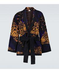Saint Laurent Knitted Shawl Cardigan - Multicolour