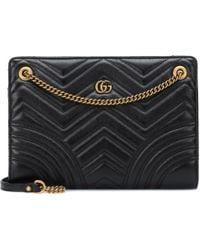 Gucci GG Marmont Medium Shoulder Bag - Black