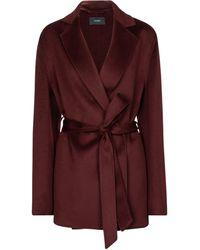 JOSEPH Cenda Wool And Cashmere Jacket - Red
