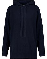 Max Mara Apogeo Hooded Wool And Cashmere Jumper - Blue