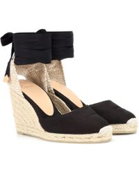Castaner Carina Canvas Wedge Espadrilles - Black
