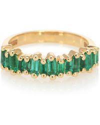 Suzanne Kalan Ring Fireworks aus 18kt Gelbgold mit Smaragden - Mettallic
