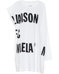 MM6 by Maison Martin Margiela Asymmetric Sleeve Oversized Top - Multicolor