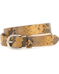 Isabel Marant Cinturón de piel efecto serpiente - Amarillo