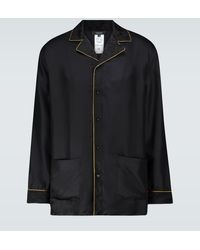 Versace Silk Pyjama Shirt - Black