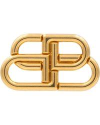 Balenciaga Bb Brooch - Metallic