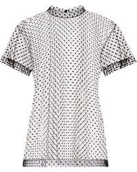 Maison Margiela Camiseta a lunares transparente - Negro