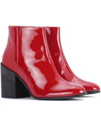 Acne | Beth Patent Leather Ankle Boots | Lyst