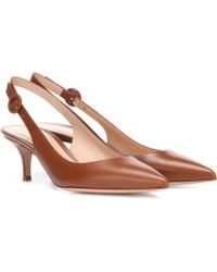 Gianvito Rossi - Anna Leather Slingback Pumps - Lyst