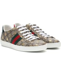 Gucci Low-top Sneakers New Ace Sneaker - Brown