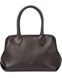 Khaite Doctor Small Leather Tote - Brown