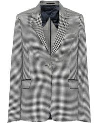 Golden Goose Deluxe Brand Checked Wool And Cotton Blazer - Multicolour