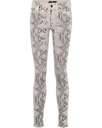 7 For All Mankind The Skinny Jeans Coated - White