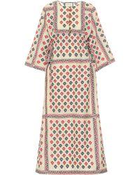 Gucci Cafetan en coton mélangé à fleurs - Neutre