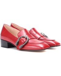 Gucci - Dionysus Leather Loafers - Lyst