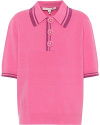 Marc Jacobs Embellished Polo Shirt - Pink