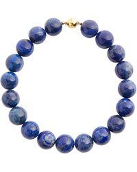 Sophie Buhai Vergoldete Halskette Lapis Perriand - Blau