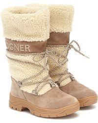 Bogner Alta Badia 2 Shearling Snow Boots - Natural