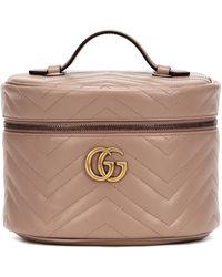 Gucci Trousse de toilette GG Marmont en cuir matelassé - Multicolore