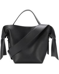 Acne Studios Musubi Mini Leather Shoulder Bag - Black