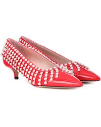 Christopher Kane - Crystal Patent Leather Court Shoes - Lyst