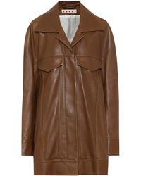 Marni Leather Jacket - Brown