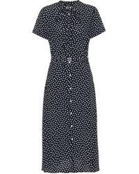 Polo Ralph Lauren Hemdblusenkleid mit Polka-Dots - Schwarz