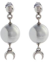 Marine Serre Moon Drop Earrings - Metallic