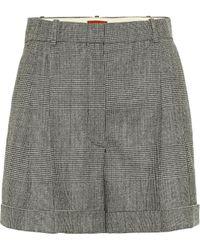 Altuzarra Chaz High-rise Wool-blend Shorts - Gray