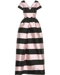 Rochas Striped Maxi Dress - Black