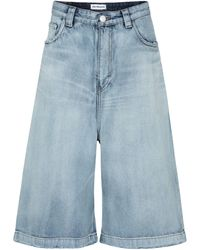 Balenciaga Mid-rise Denim Culottes - Blue